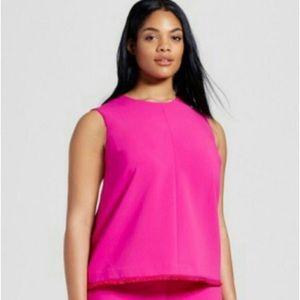 Victoria Beckham Pink Sleeveless Blouse Sz 2X NWT
